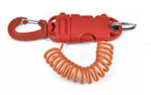Clip estensibile SMART COIL NYLON 90 cm - ROSSA - BEST DIVERS