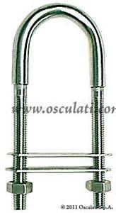 Cavallotto ad U Inox D 10 Filetto D 8 Piastrina 75x40 mm