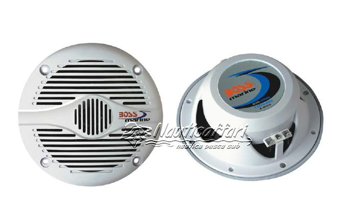 Altoparlanti/Casse Stagne ABS 2 Vie 75+75W (150W) BOSS MARINE MR-50W