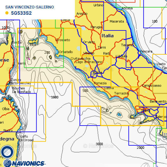 Cartografia NAVIONICS Small 533 Gold Area Small S. VINCENZO/SALERNO