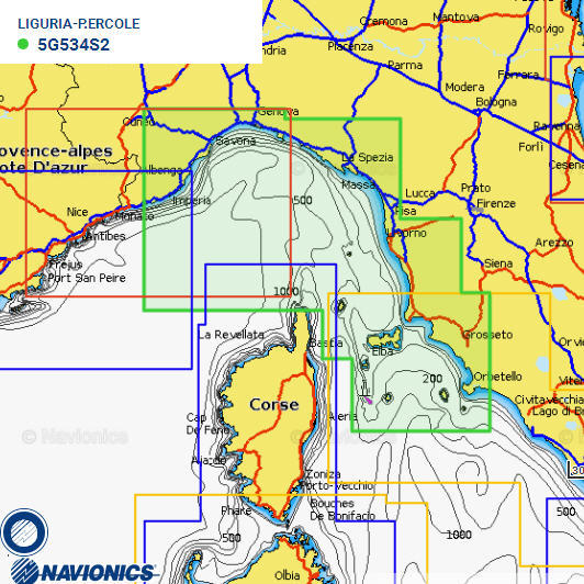 Cartografia NAVIONICS Small 534 Gold Area Small LIGURIA/P. ERCOLE
